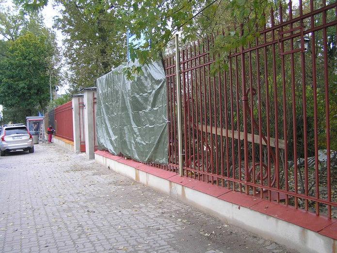 Remont ogrodzenia kościoła