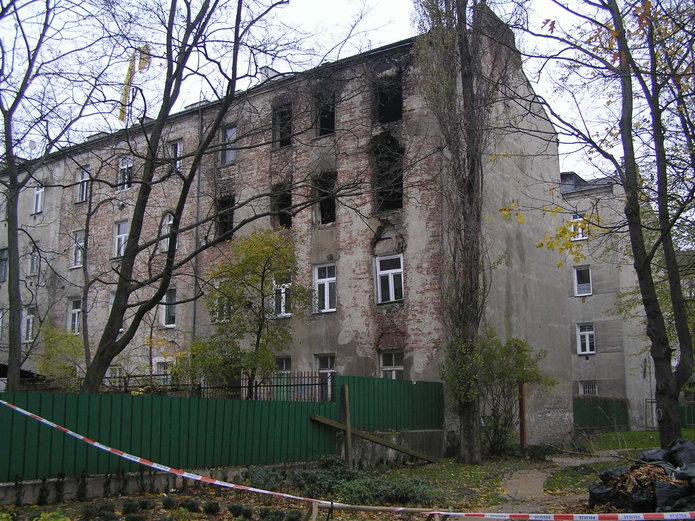 Siedlecka 34 po pożarze