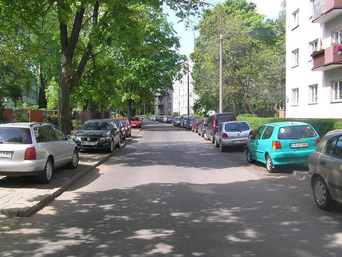 Ulica na Saskiej Kępie