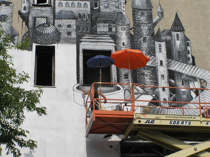 Nieistniejący mural przy Mińskiej 12