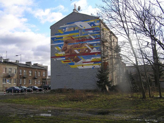 Mural Jan Paweł II na Pradze Południe