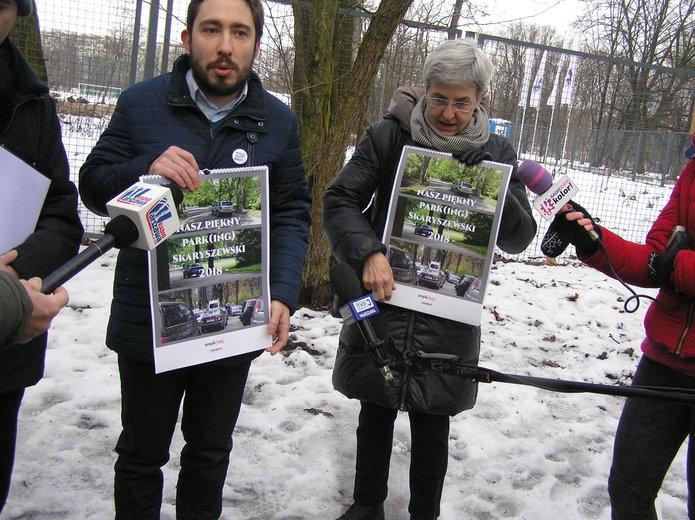 Zakazać wjazdu do parku Skaryszewskiego