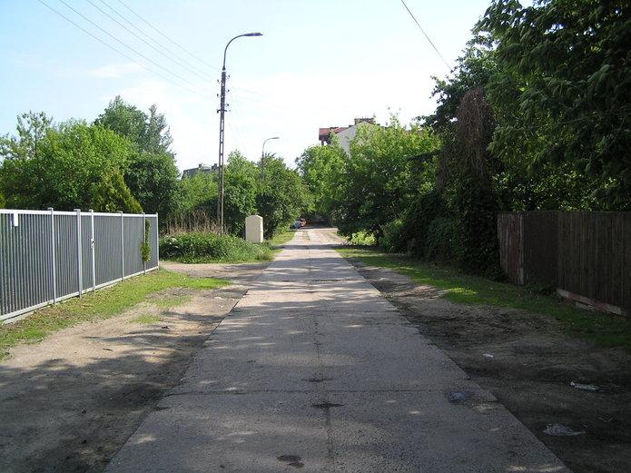 Ulice Beskidzka przed remontem