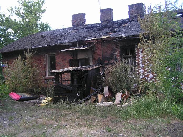 Pożar przy Garwolińskiej 38A
