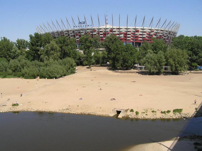 Plaża Poniatówka na Pradze