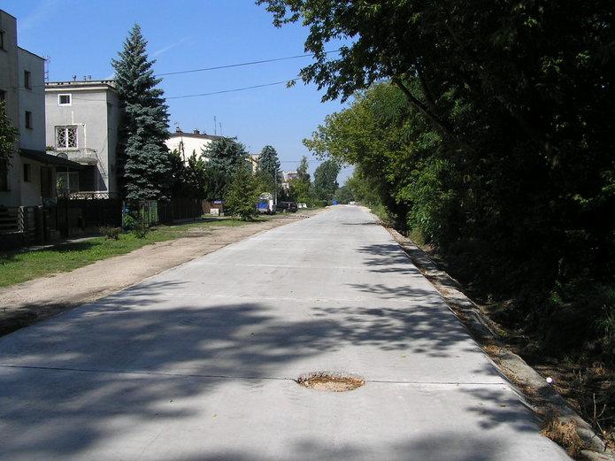 Nowy beton na ulicy Makowskiej