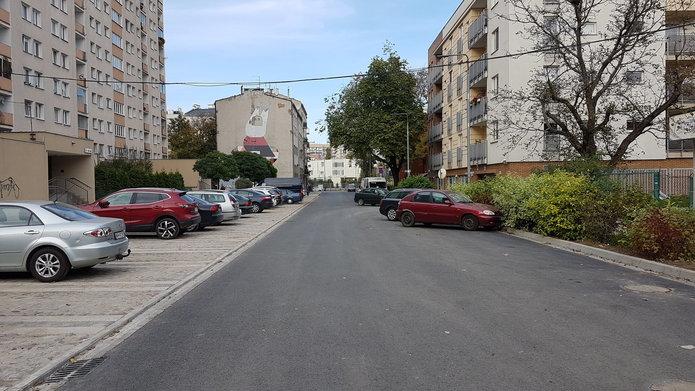 Ulica Korsaka po przebudowie