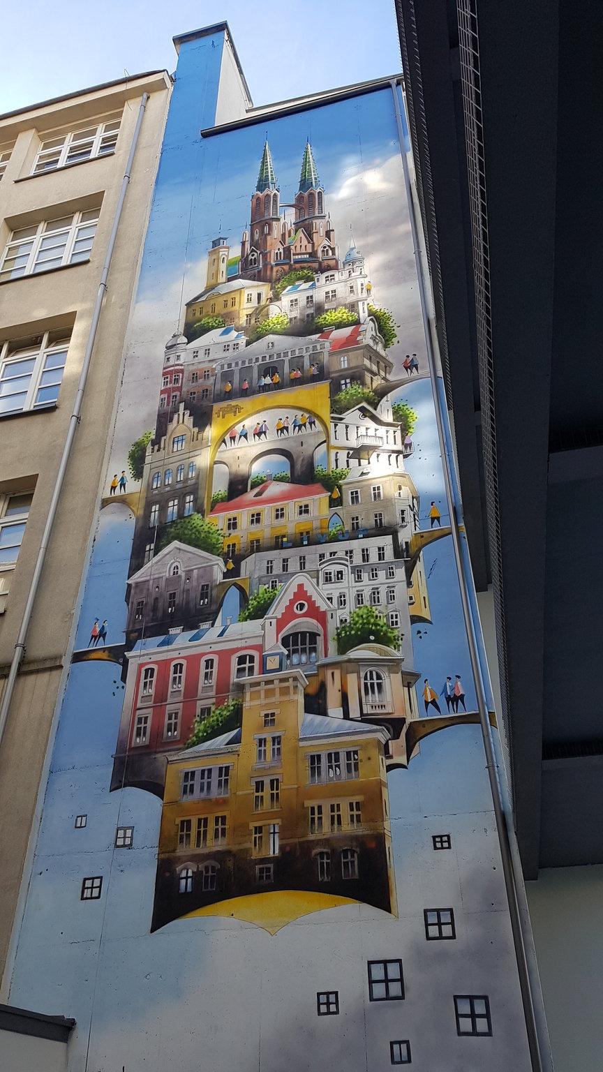 Mural na Jagiellońskiej 36