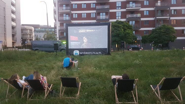 Kino plenerowa na Pradze