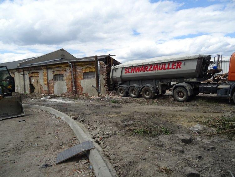 Wyburzenia na terenie Praskiej Stalowni, fot. MWKZ