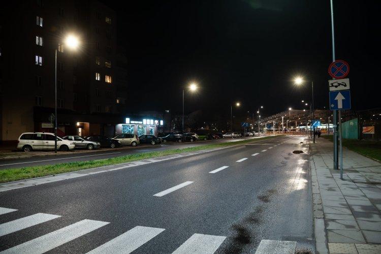 Ulica Lubelska po zmroku, fot. ZDM
