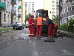 Prace na ulicy Łochowskiej
