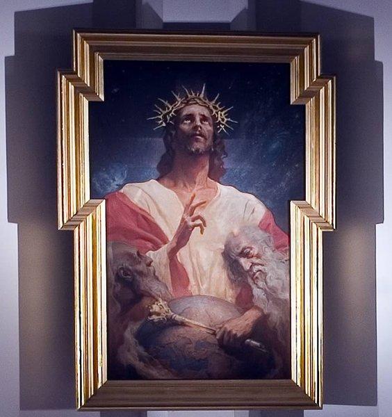 Obraz Chrystusa Króla Adama Styki