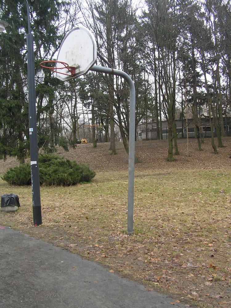 Kosz do koszykówki wParku Praskim