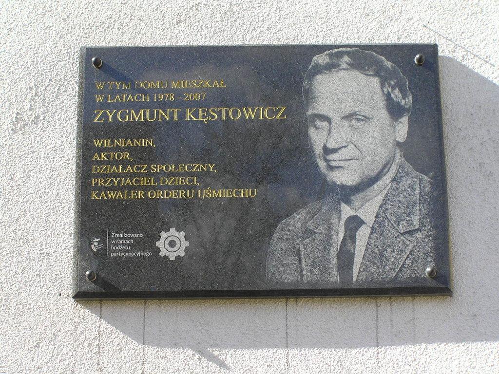 Tablica pamięci Zygmunta Kęstowicza