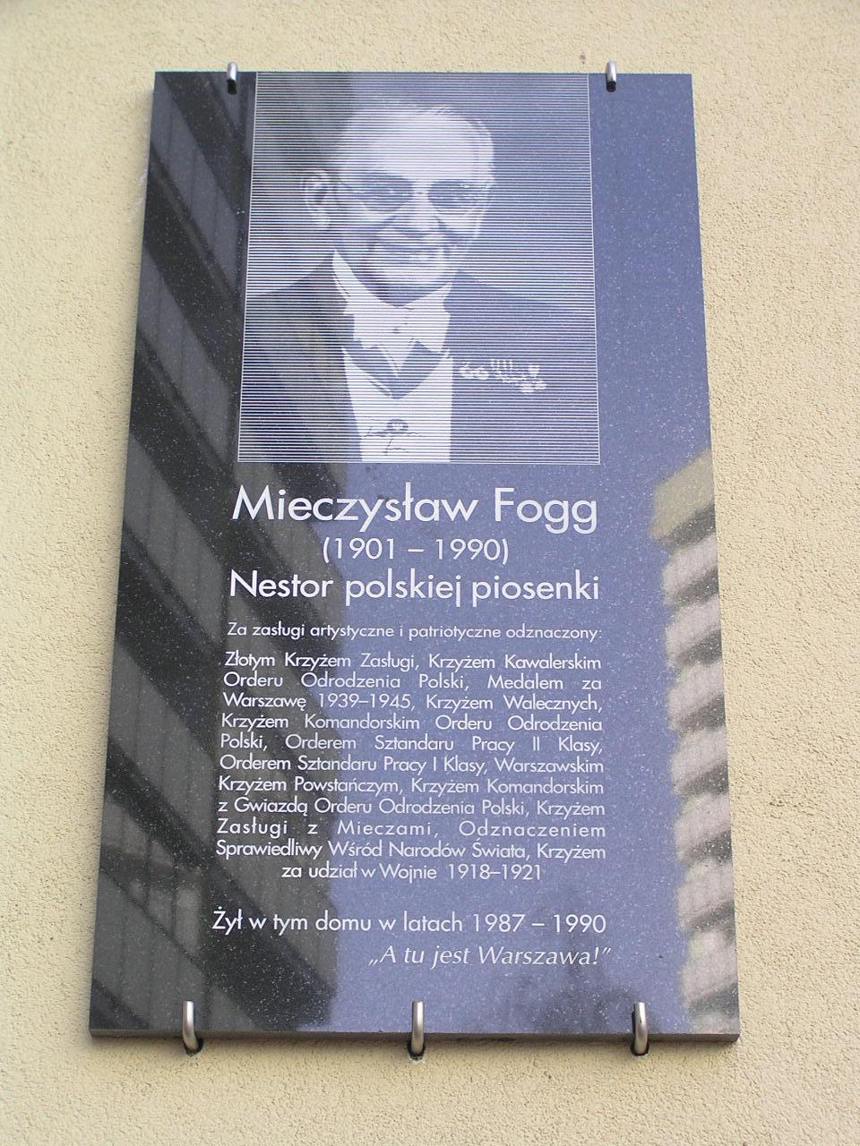 Tablica pamięci Mieczysława Fogga
