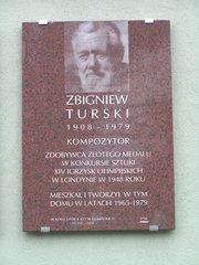 Al. Stanów Zjednoczonych 18 - Tablica pamięci Zbigniewa Turskiego