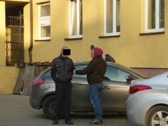 Policjanci odzyskali koparko-ładowarkę, ładowarkę i2 zagęszczarki, fot. KRP VII