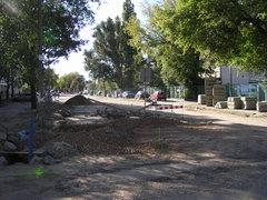 Ulica Chrzanowskiego wczasie przebudowy