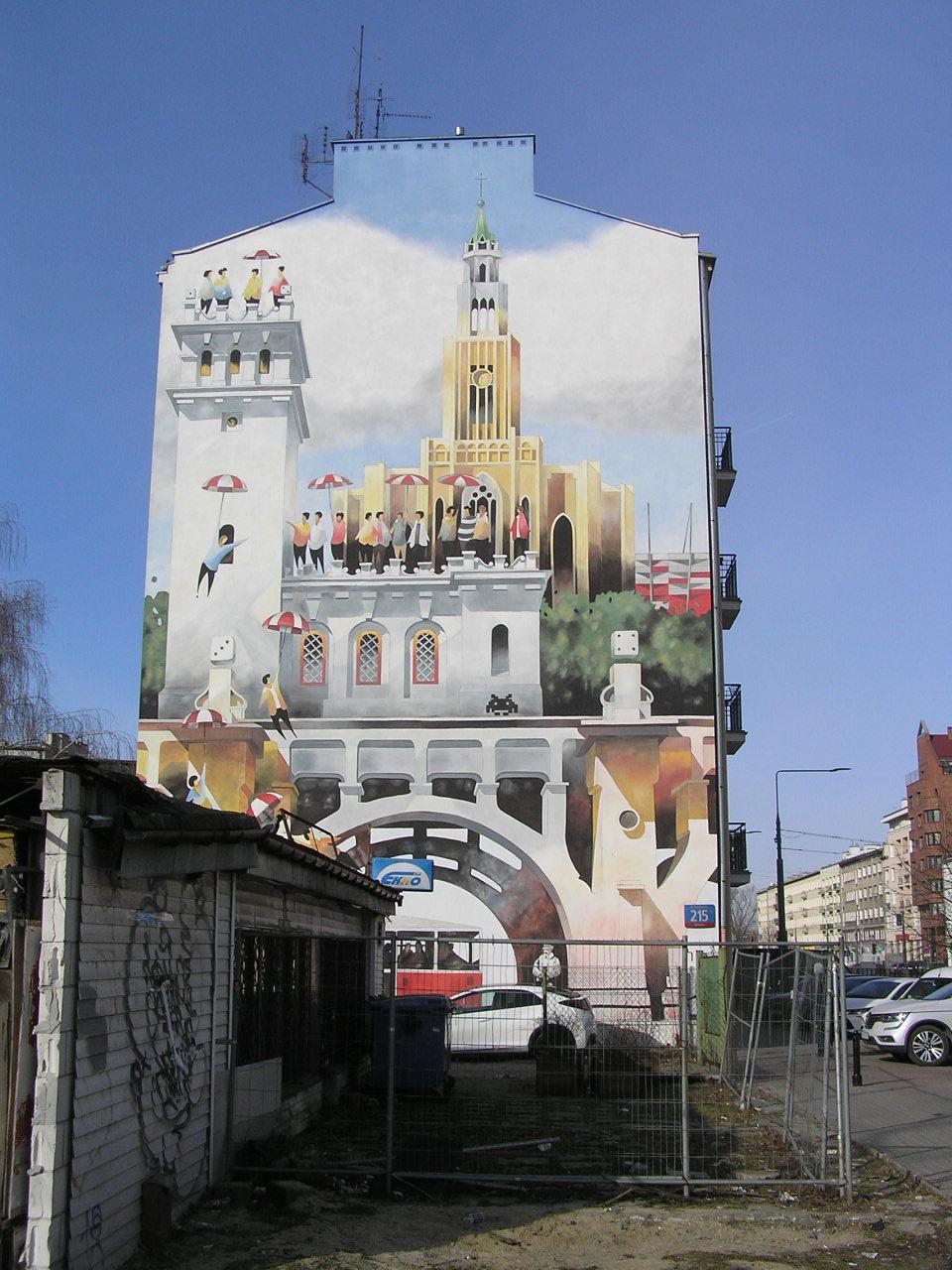 Mural Niepodległość przy Grochowskiej 215 wWarszawie