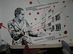 Garibaldiego 5a - Mural Miron Białoszewski