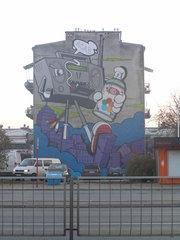 Karczewska 33 - mural