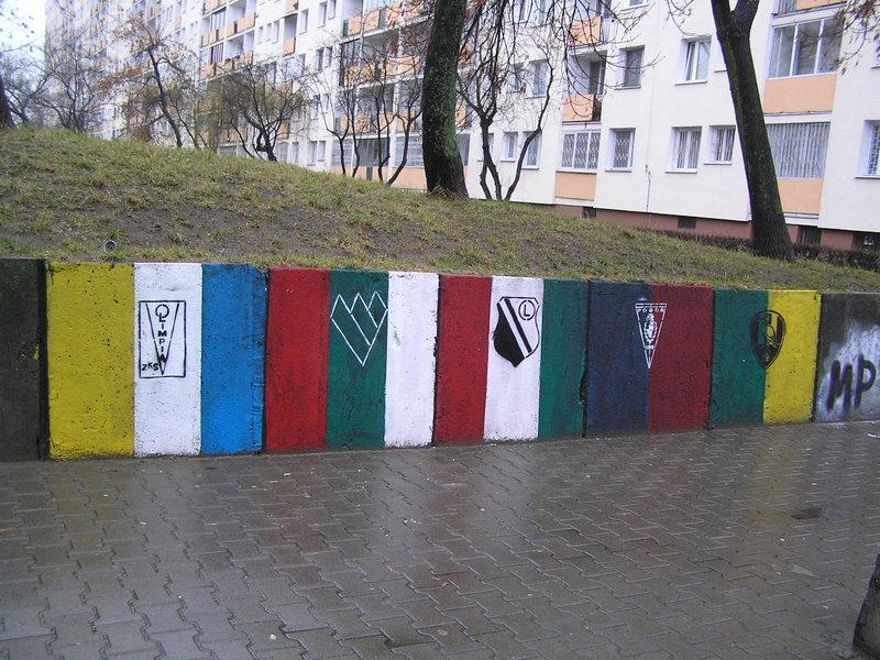Mural Barwy klubowe - Kawęczyńska 12