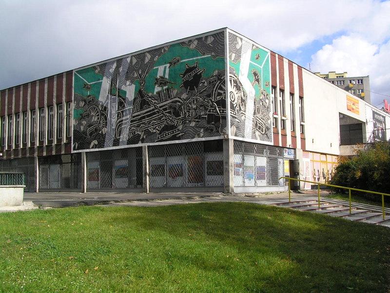 Mural Industrialne Akwarium wWarszawie