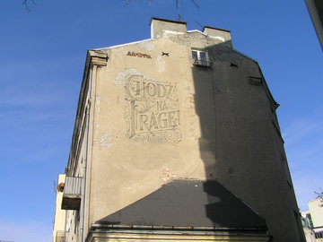 Mural zhasłem Chodź na Pragę! 11 Listopada 44