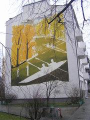 Mural przy Panieńskiej 3 wWarszawie