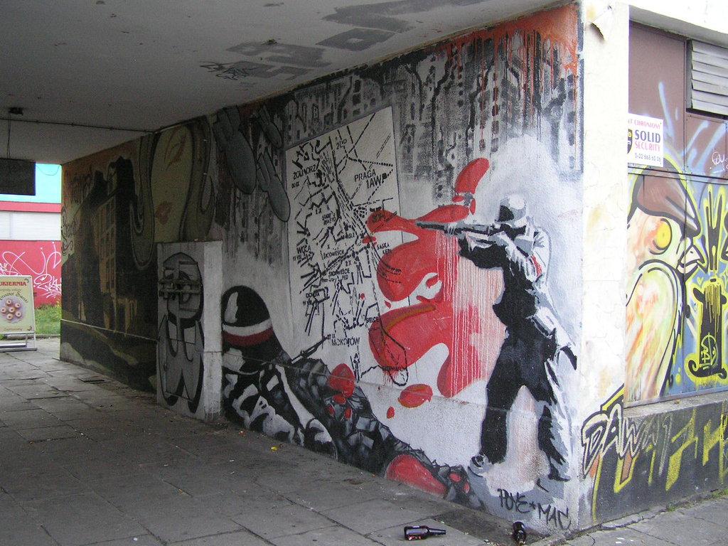 Mural Powstanie Warszawskie przy ulicy Targowej 18