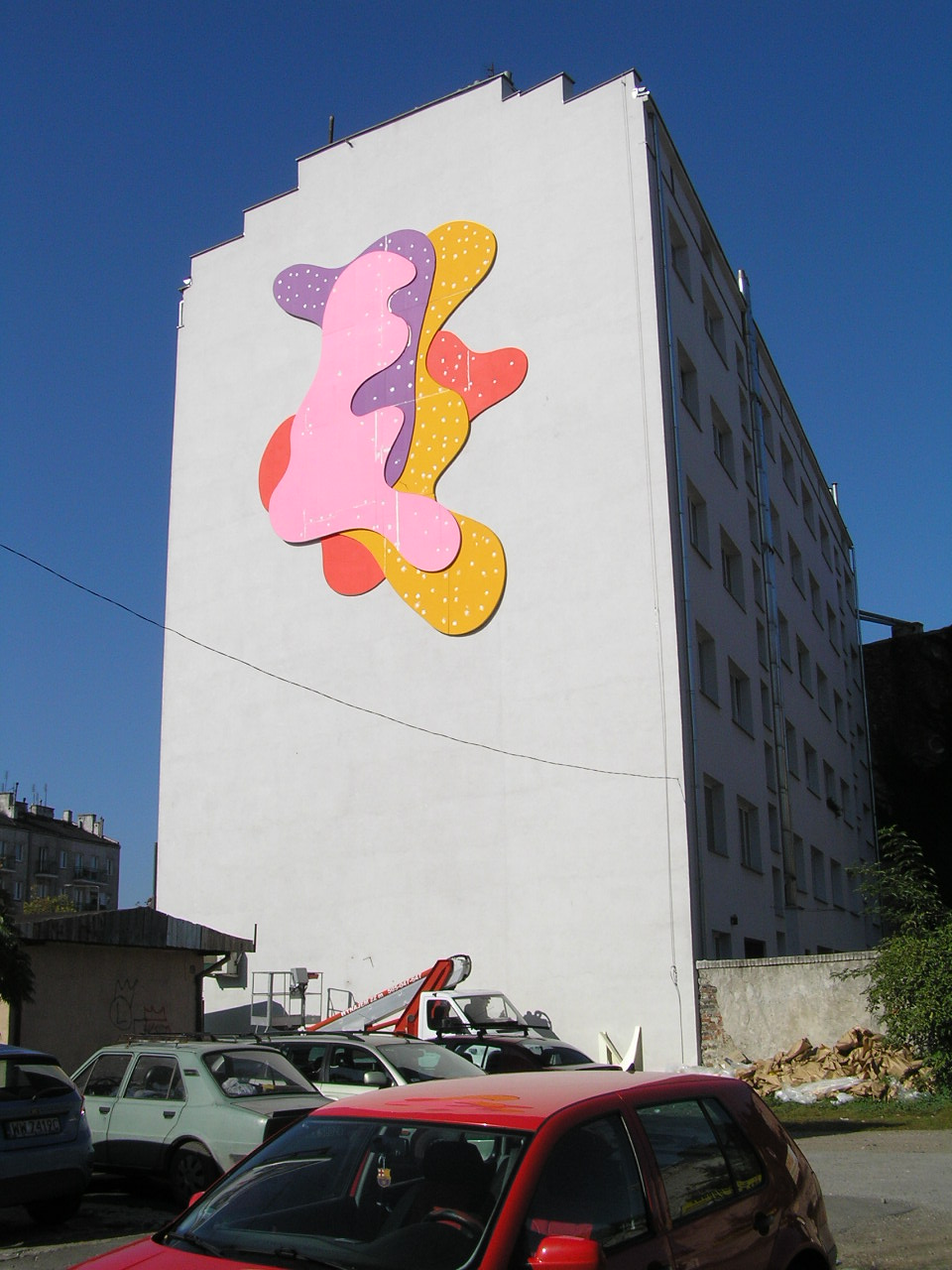 Mural Shapes of Colour przy Targowej 12