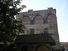 Mural reklamowy Molozol - Muchozol - Sanitozol przy Targowej 22