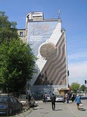 Mural Jubiler przy Targowej 15